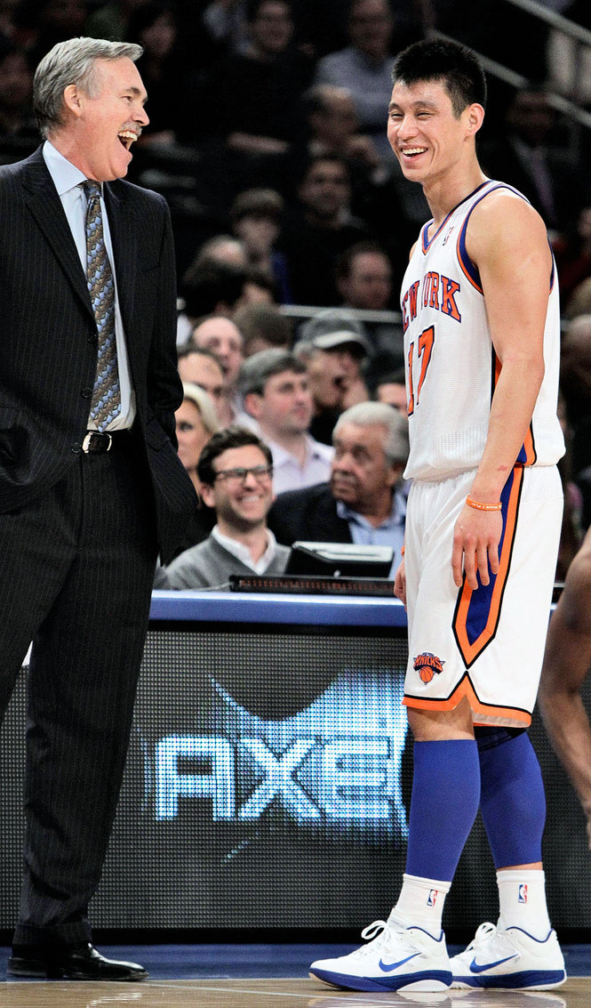 D'Antoni con Jeremy Lin.